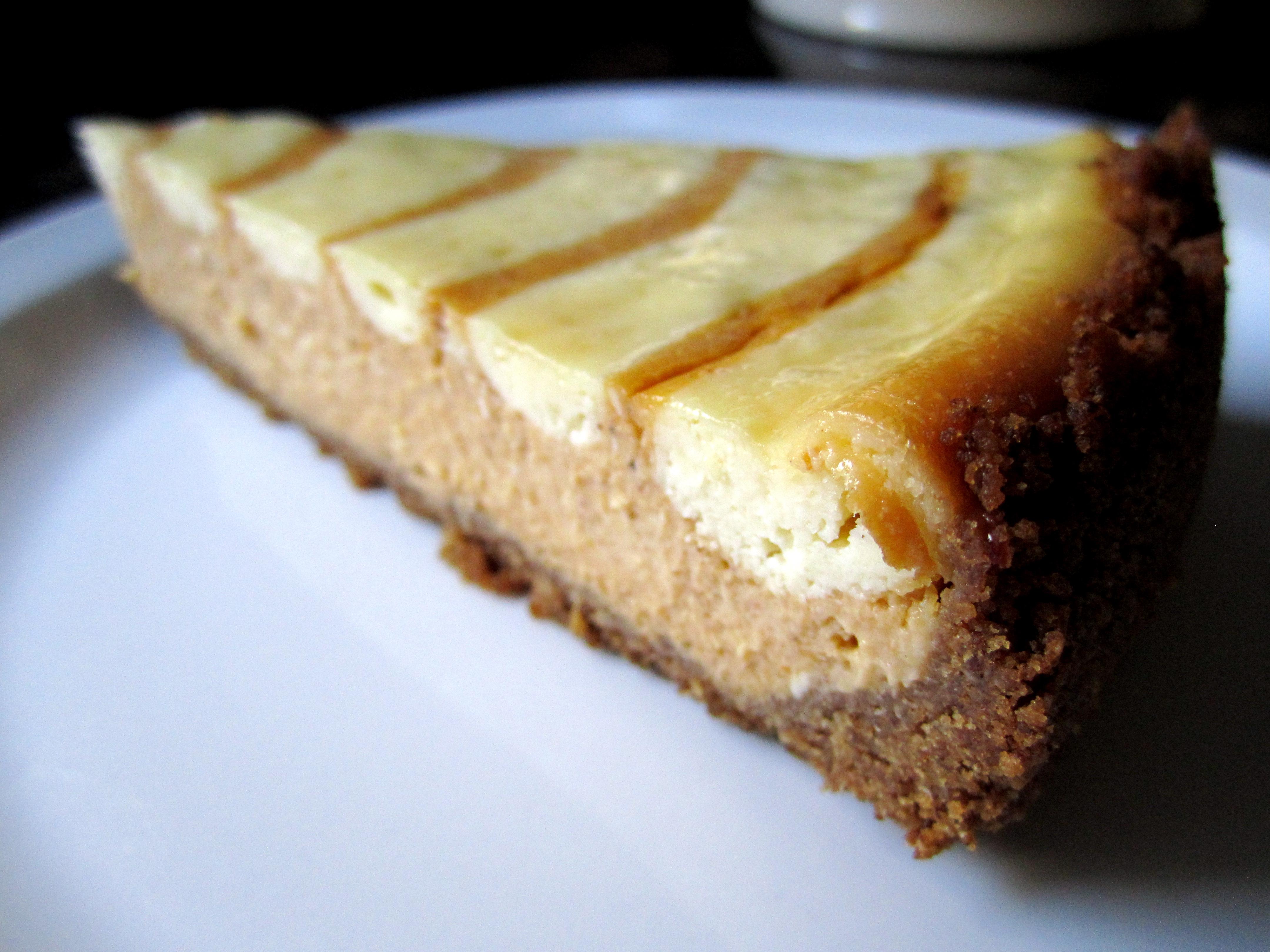 Pumpkin Swirl Cheesecake | thebitesizedbaker